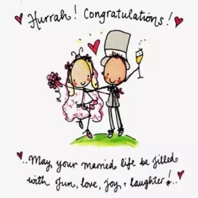 Поздравления для свадьбы на английском языке