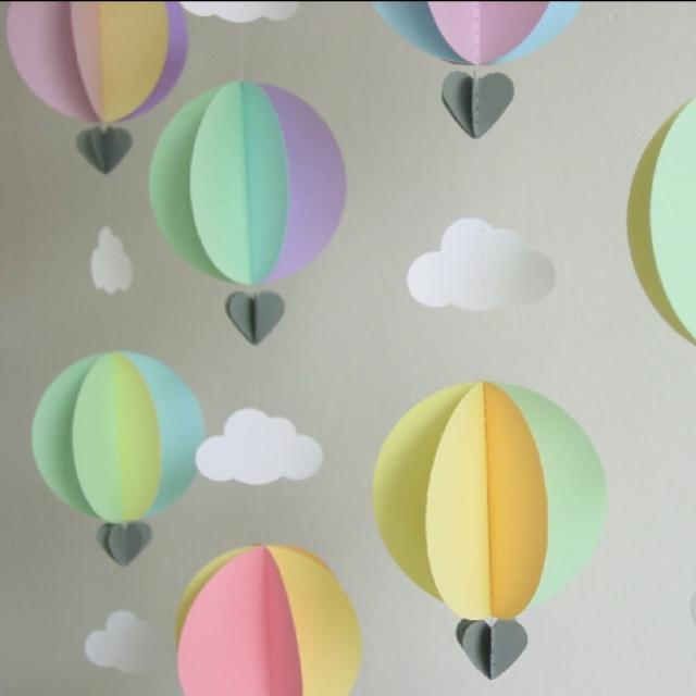 Воздушный шар из цветной бумаги своими руками