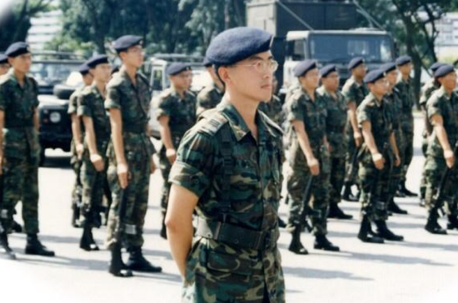 1997: I was the parade commander for the change of command parade.