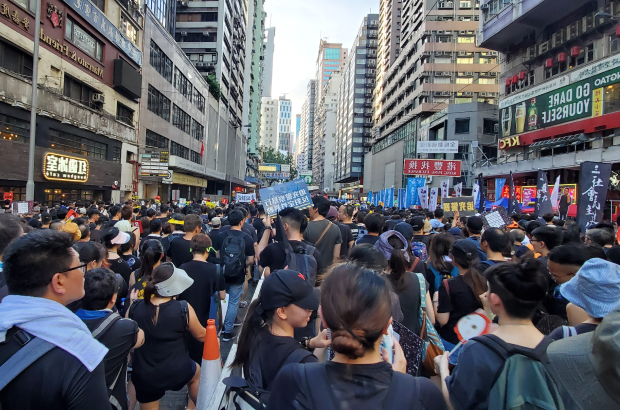 The march on July 1 was the 22nd anniversary of the establishment of the Hong Kong Special Administrative Region.