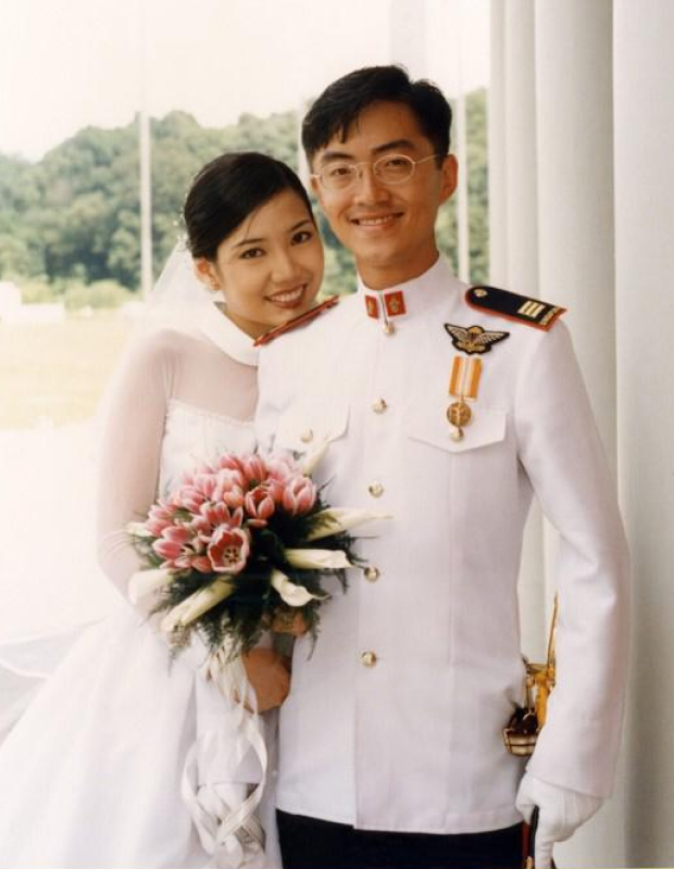 On our wedding day, 10 October 1996.