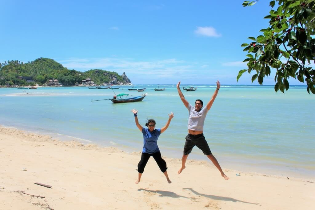 Doing the obligatory travel jump shot in Koh Tao, Thailand.