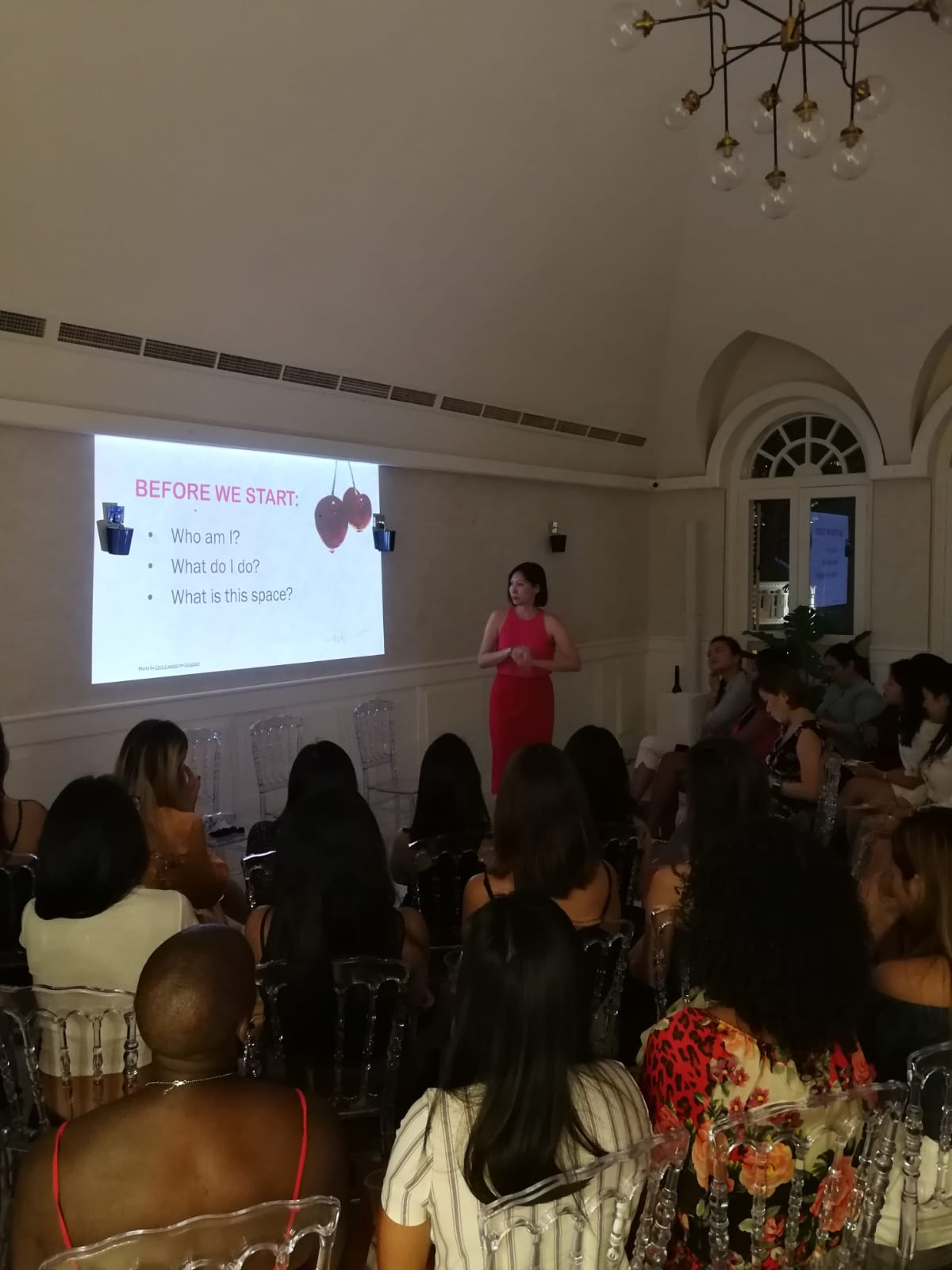 Speaking at The Hedonist Store's introduction event, Unlocking the Secrets to Mindblowing Orgasms.