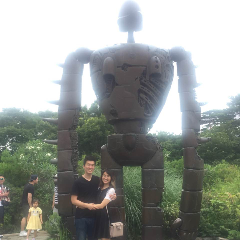 Bo and I at the Ghibli Museum.