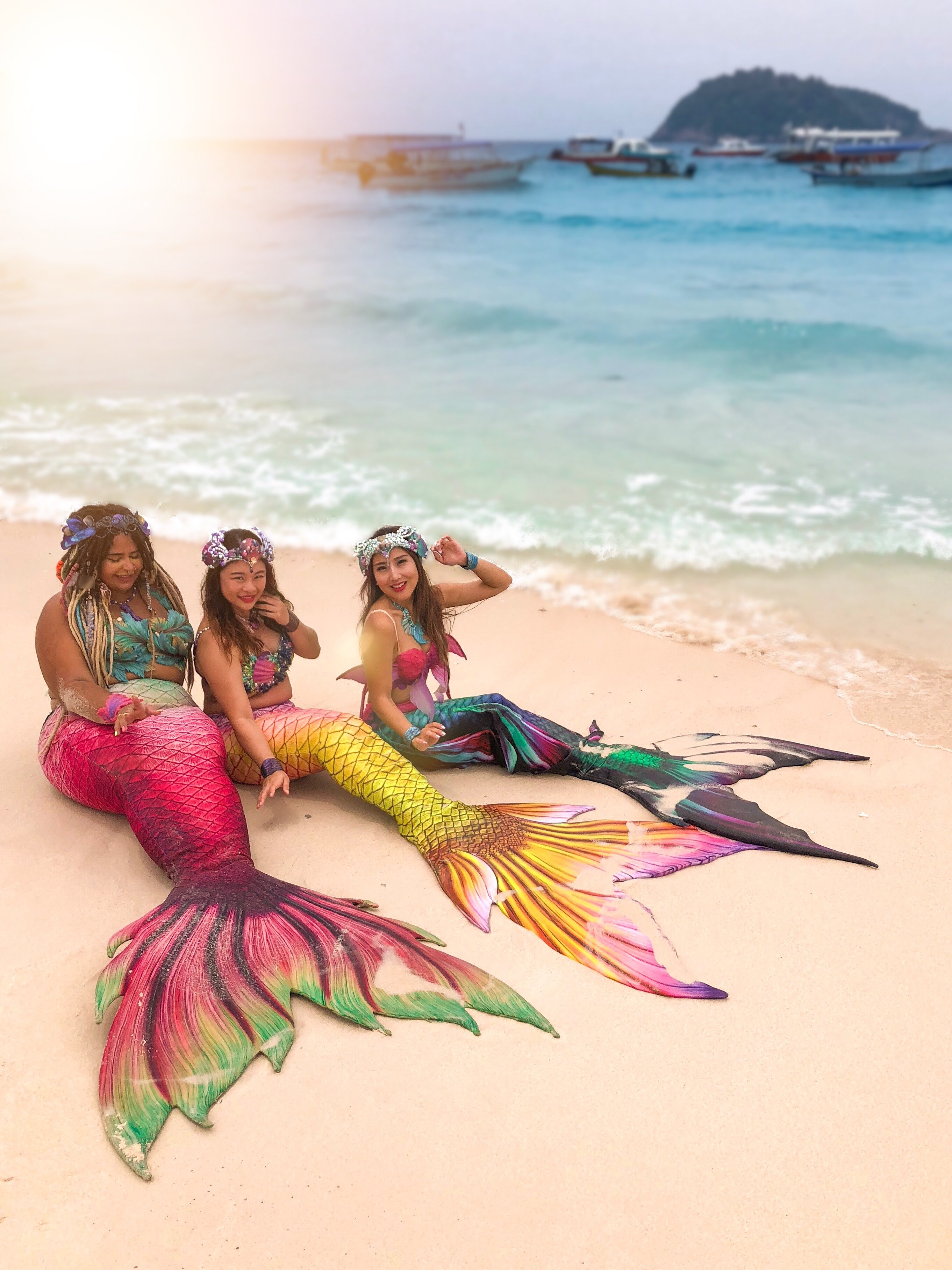 With visiting mermaids from abroad!