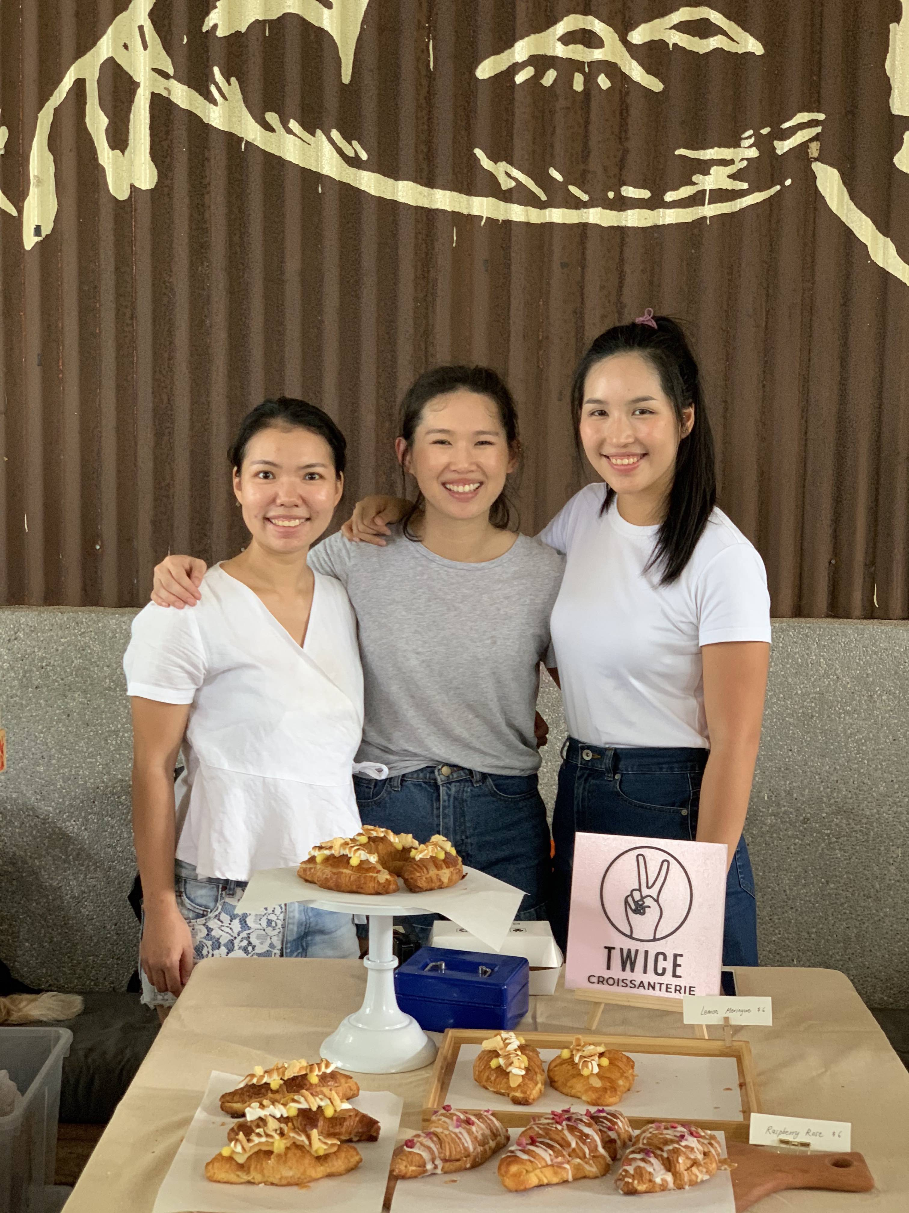 From left to right: Janice, Ying and Jennifer