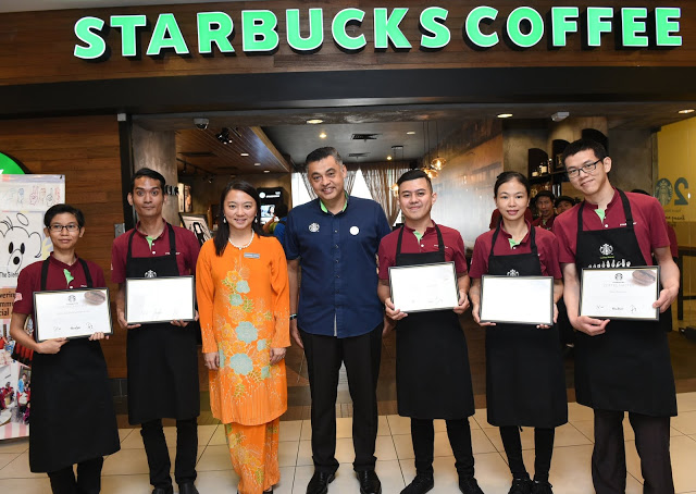 In 2018, I was certified as a Starbucks Coffee Master, which means I now get to don a black apron and am more well-versed in the coffeehouse beverages.