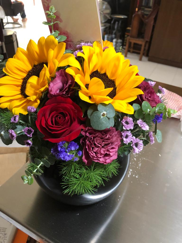 Martin would always excitedly ask what I think of it, and it's how much he cares that really matters to me. This surprise bouquet really brightened up my day because sunflowers are my favourite!