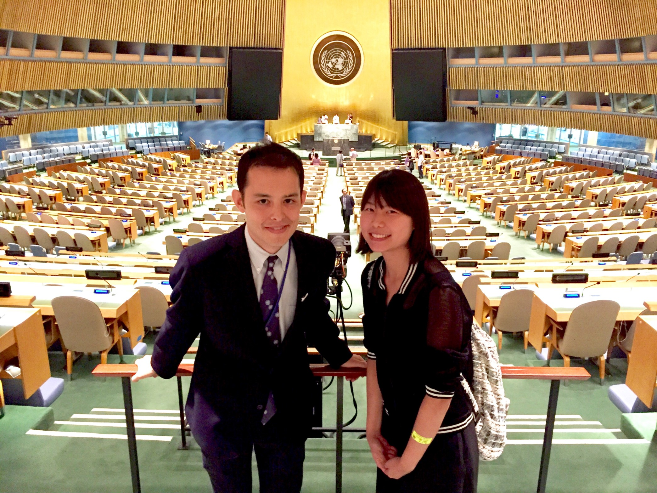 Our first photo together at the United Nations building, where Karin gave me a tour.