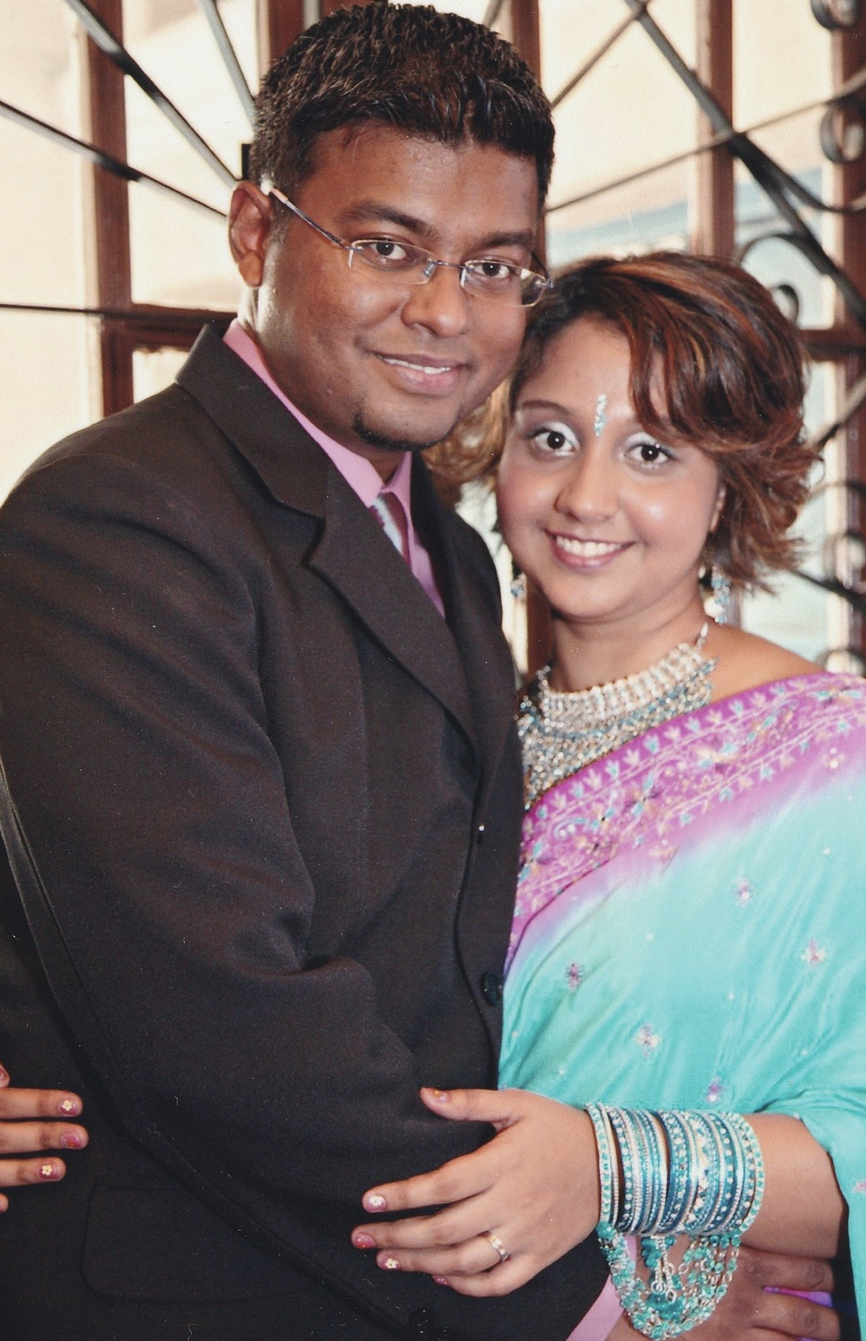 With my husband, Suresh. This photograph was taken in 2007, on the day we registered our marriage.