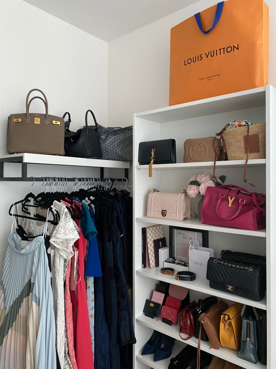 I would sell luxury bags I don't use often, so that they don't become a waste of space and money.