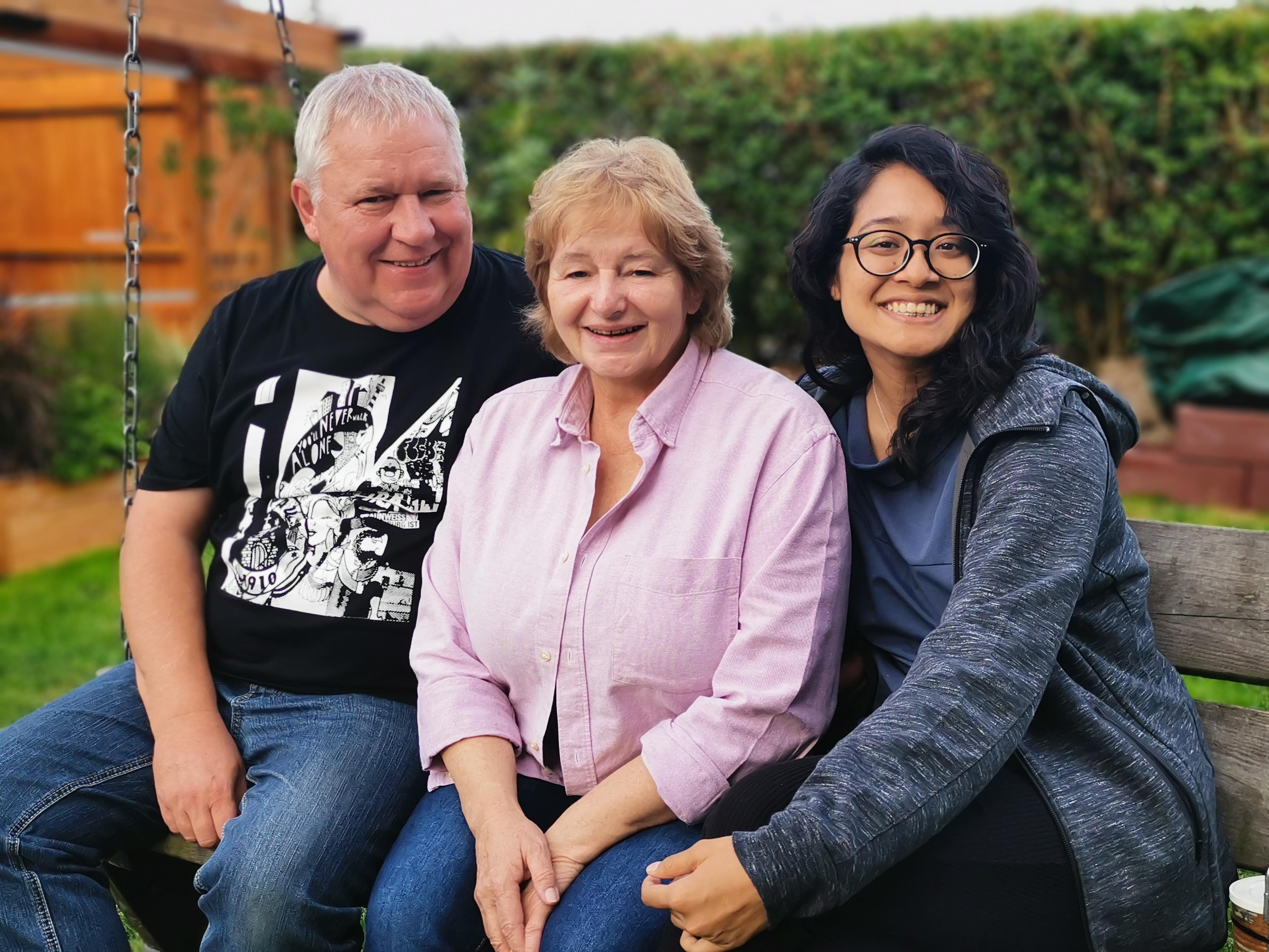 I met Marcel's father and stepmother in Germany for the first time in July 2019.