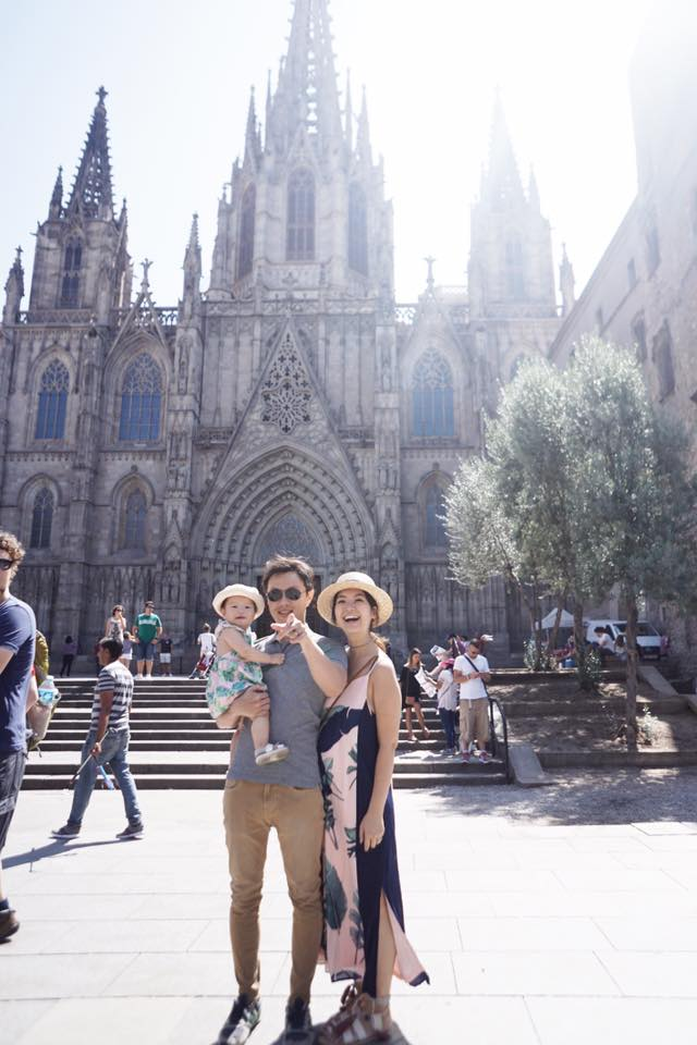 Eugene and I with Rey at Catedral de Barcelona.