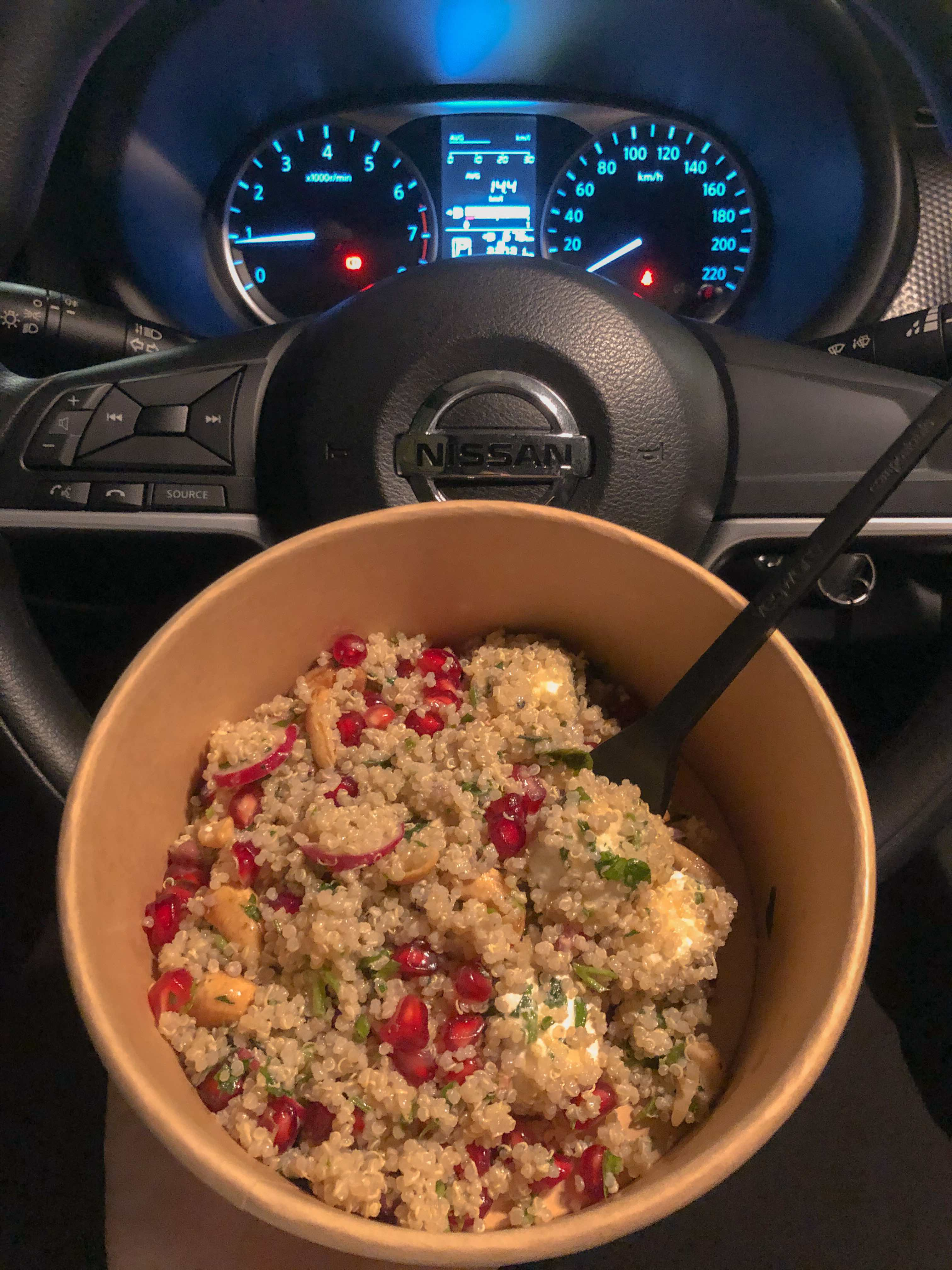 There were minor lifestyle adjustments to get used to, like driving with the steering wheel on the left side of the car. During Ramadan, you're not allowed to eat or drink in public by law, so I have lunch breaks in my car and drink water in the toilet or pantry.