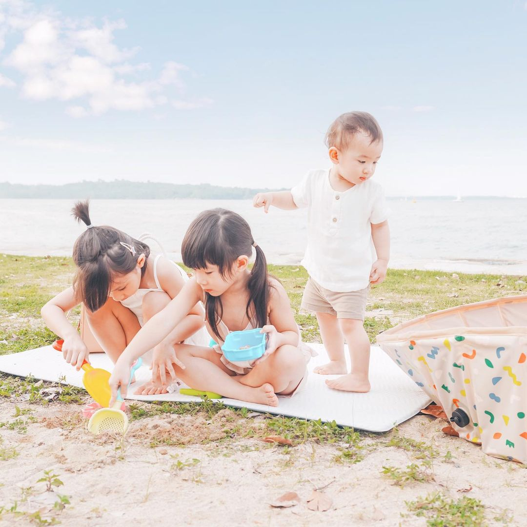Left to right: six-year-old Kayla; five-year-old Tiffany; and Thaddeus, who turns two this year.