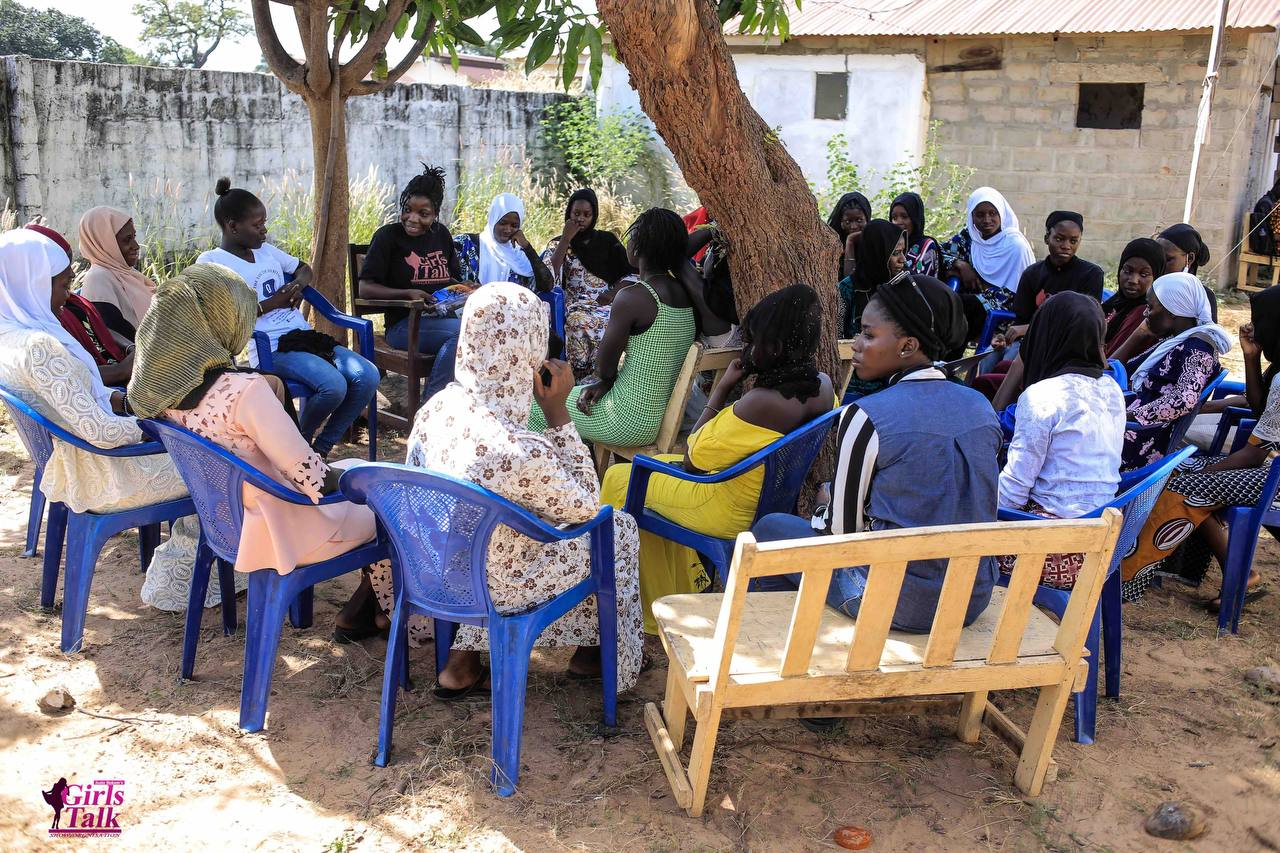 We ran a reusable sanitary pad distribution initiative in rural Gambia; this photo was taken in Kuloro.