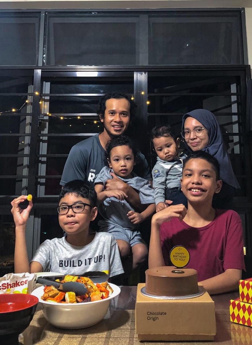 Celebrating Aniq's 11 birthday as a family.