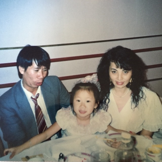 My mother met my father through her cousin who was his tutor in China. This was in the 80s. Then she immigrated to the US to be with him and his family, and eventually brought her mother and siblings over. During those early years, she worked in a factory, while my dad worked as a repairman.