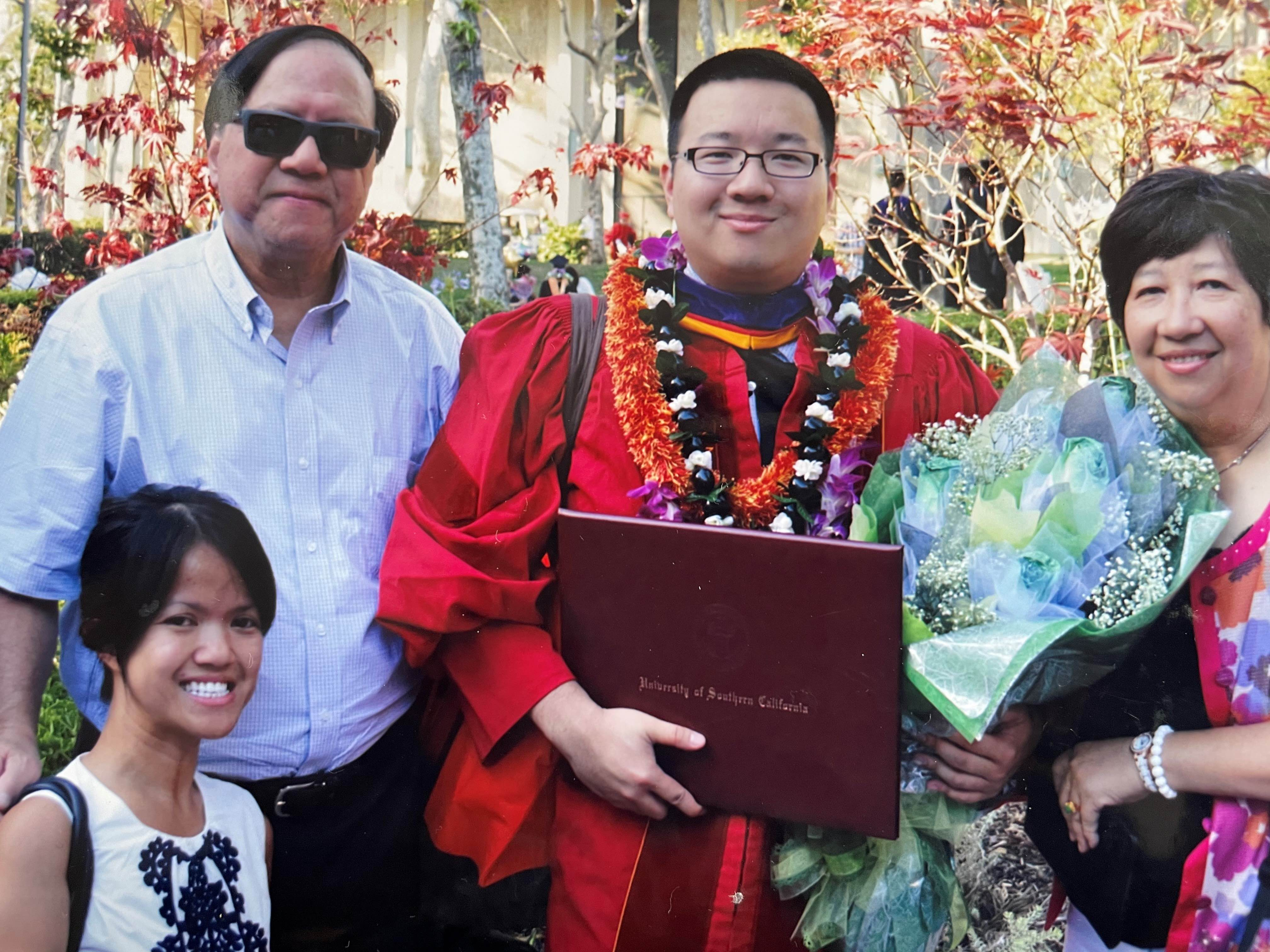 A family photo at my brother's graduation.