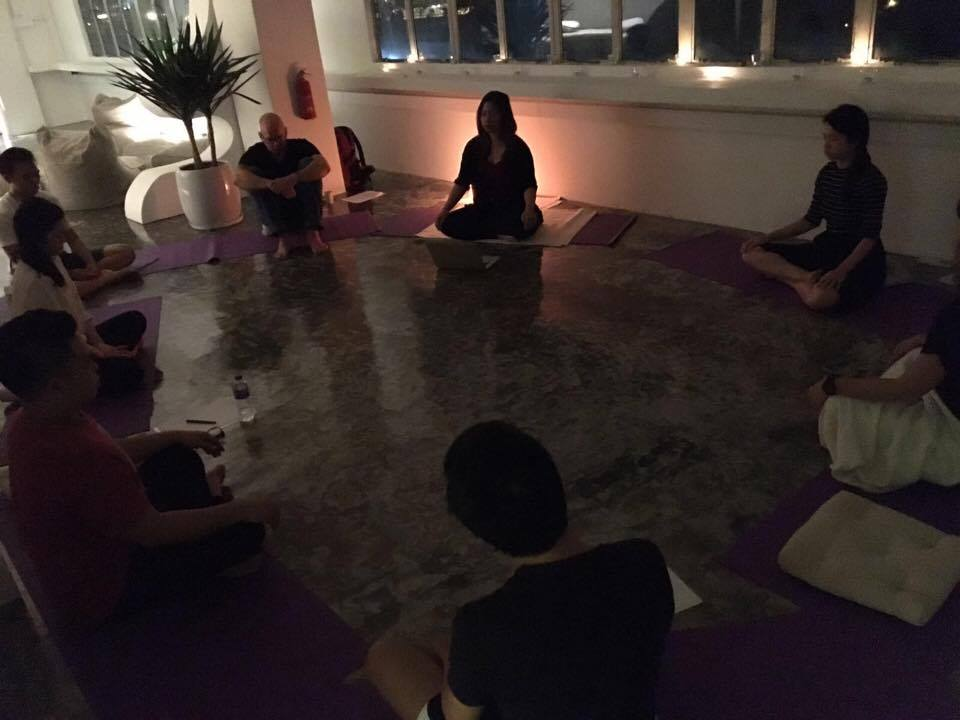 Conducting a course on the foundations of mindfulness and meditation.