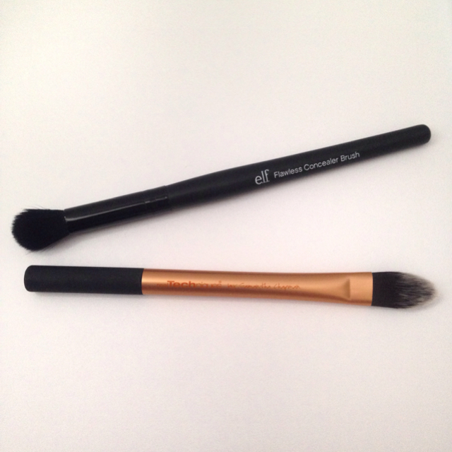 elf pointed foundation brush. e.l.f flawless concealer brush | rt pointed foundation elf