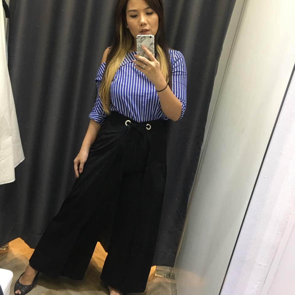 d477b9ee4f0 Outfit to site today.. my client like my outfit hehe! Toshay top and Ginna  Pants from  lovebonito