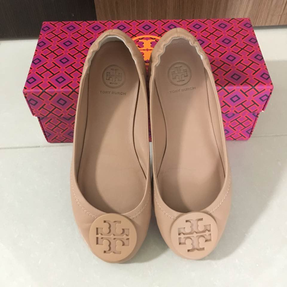 63dc8293e64de ... tory burch flats in my previous post! ) This pair is in nude beige.  More brownish tone.