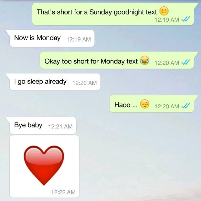 nice goodnight text
