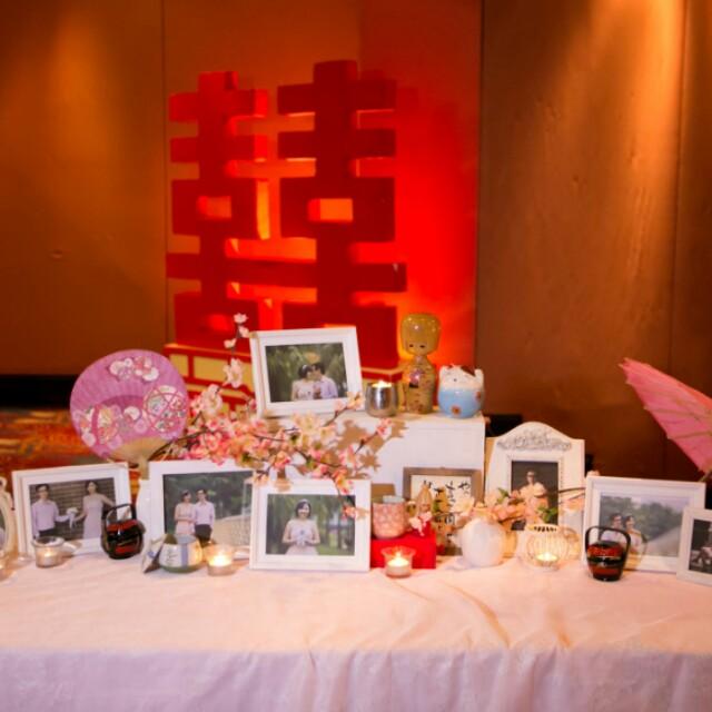 Throwback our wedding wedding vendor list lindatan878 dayre photo display table during kl wedding reception junglespirit Image collections