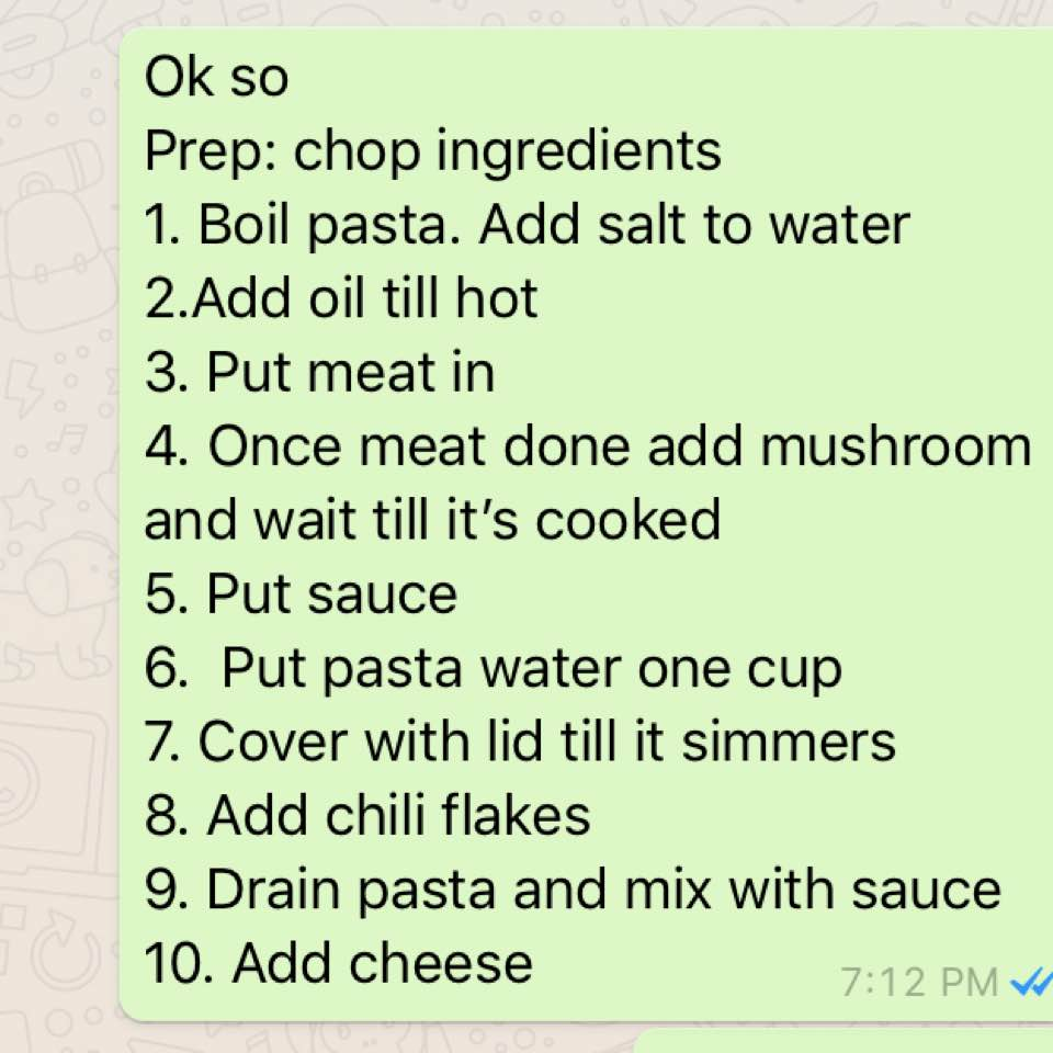 Anyhowly Basic Pasta Herowena Dayre Ok I Need To Document Todays Super Recipe So That Future Me Can Refer It Because Know Everything Step By Cannot Wing Cos