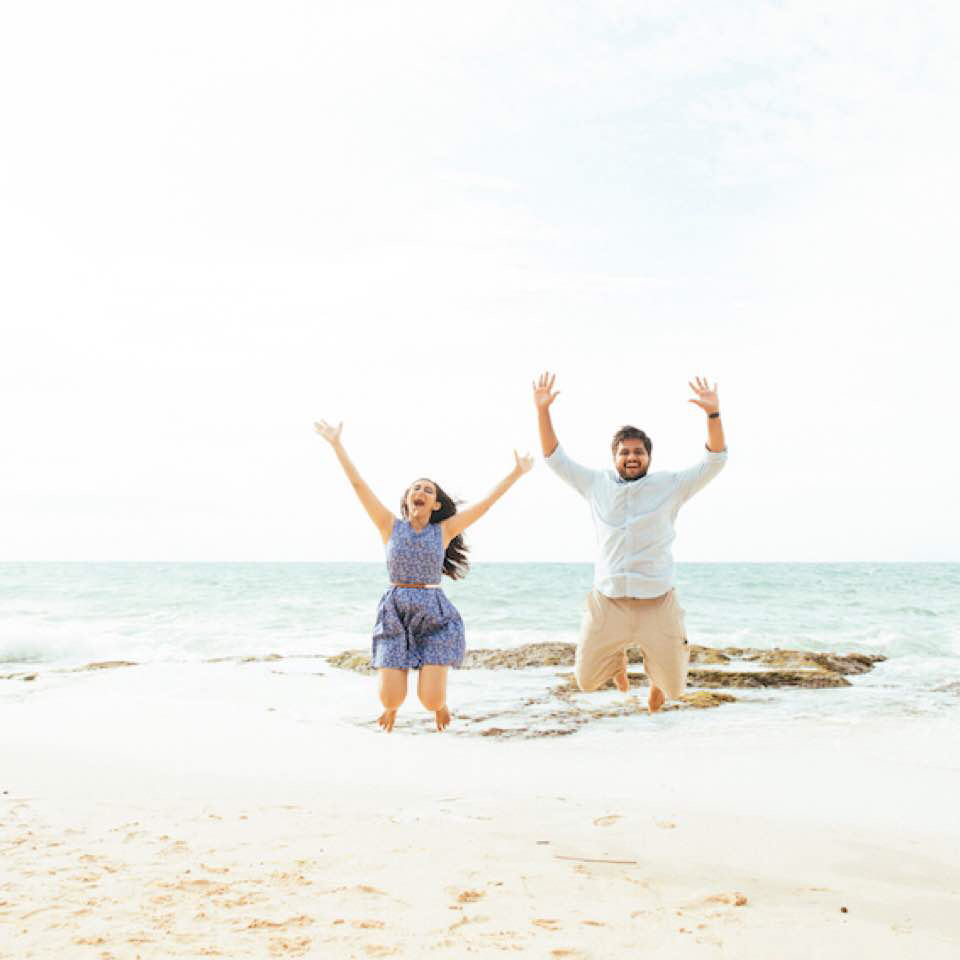 Took Advantage Of This Barren Beach At The Recommendation Our Photographer Aswin To Have A Casual Photoshoot Taken During Their Honeymoon In Bali