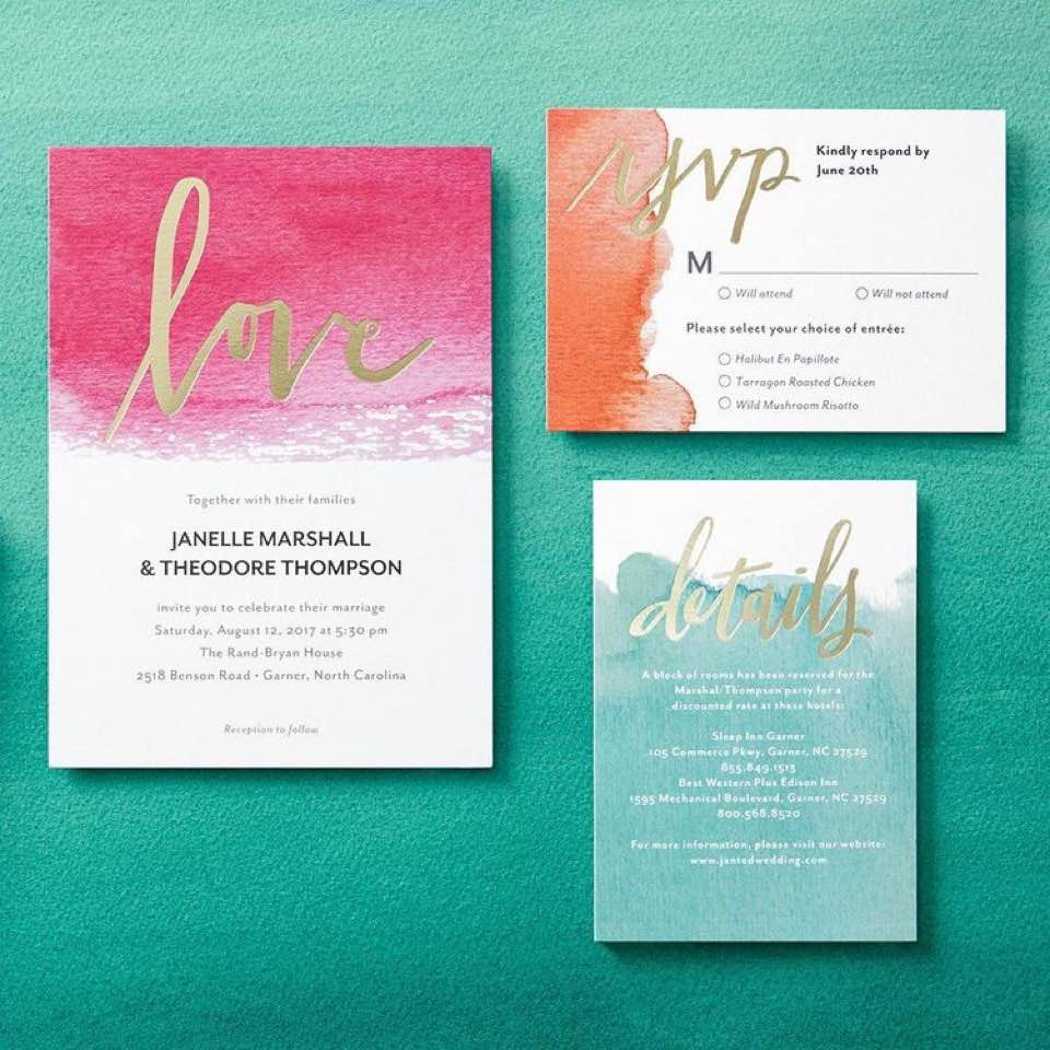 How I Designed My Own Save The Dates & Wedding Invites - blisstris ...