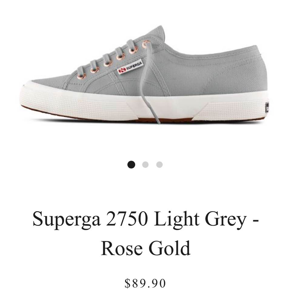 6561d4456c48 Worn once for a few hours and realised it s too small 😔 Trade only with  superga size 38 light grey rose gold  grey vapour ...