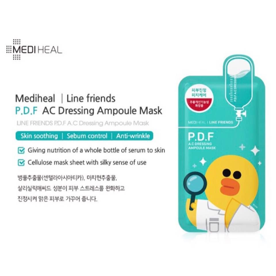 Mediheal Masks Po Flyingaeroplanes Dayre Line Friends Ampoule Mask Pdf Ac Dressing 24