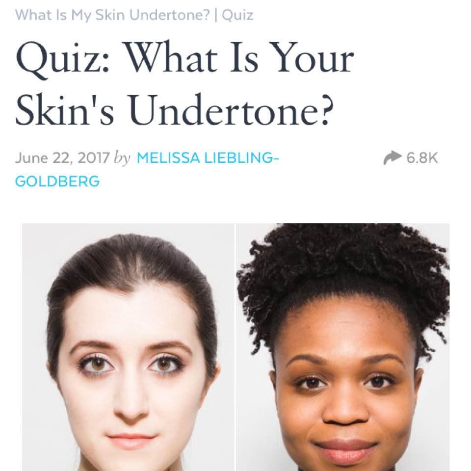 What Is My Skin Colour Quiz Best Skin 2018