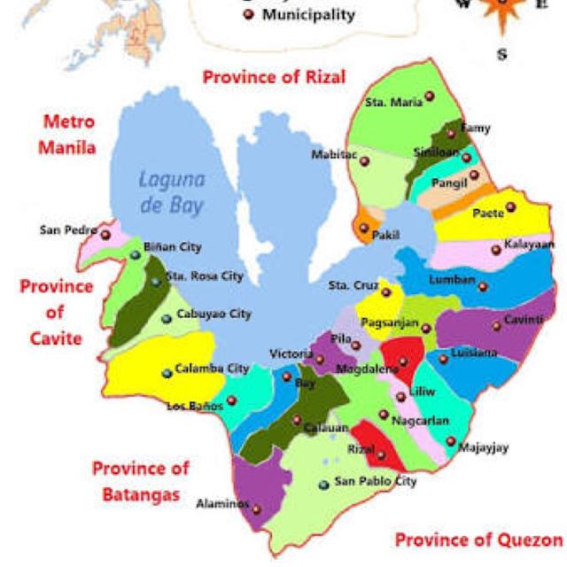 To Pakil Laguna Clebasemaj Dayre - Calamba city map