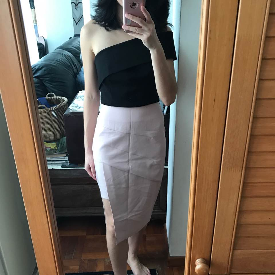 b7f1c851d Fayth Eden Midi Skirt, S. Bought this on impulse at 10pm Monday night when  I was exhausted and hating life (lol).