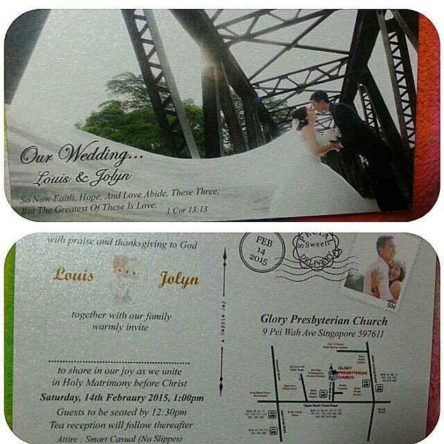 Wedding invites jolyncyh dayre the reason why i was so busy the entire day we brave through the massive traffic jam at the woodlands custom just to get into jb to do printing of stopboris Choice Image