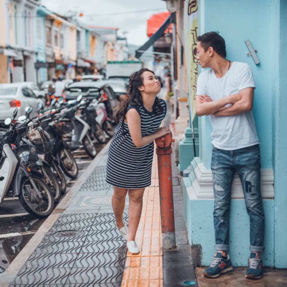 Teaming Up With Por From Asobi Co Our Couple Opted For A Casual Quirky Shoot In Phuket Instead Of Only Having Their Photos Taken At The Beach
