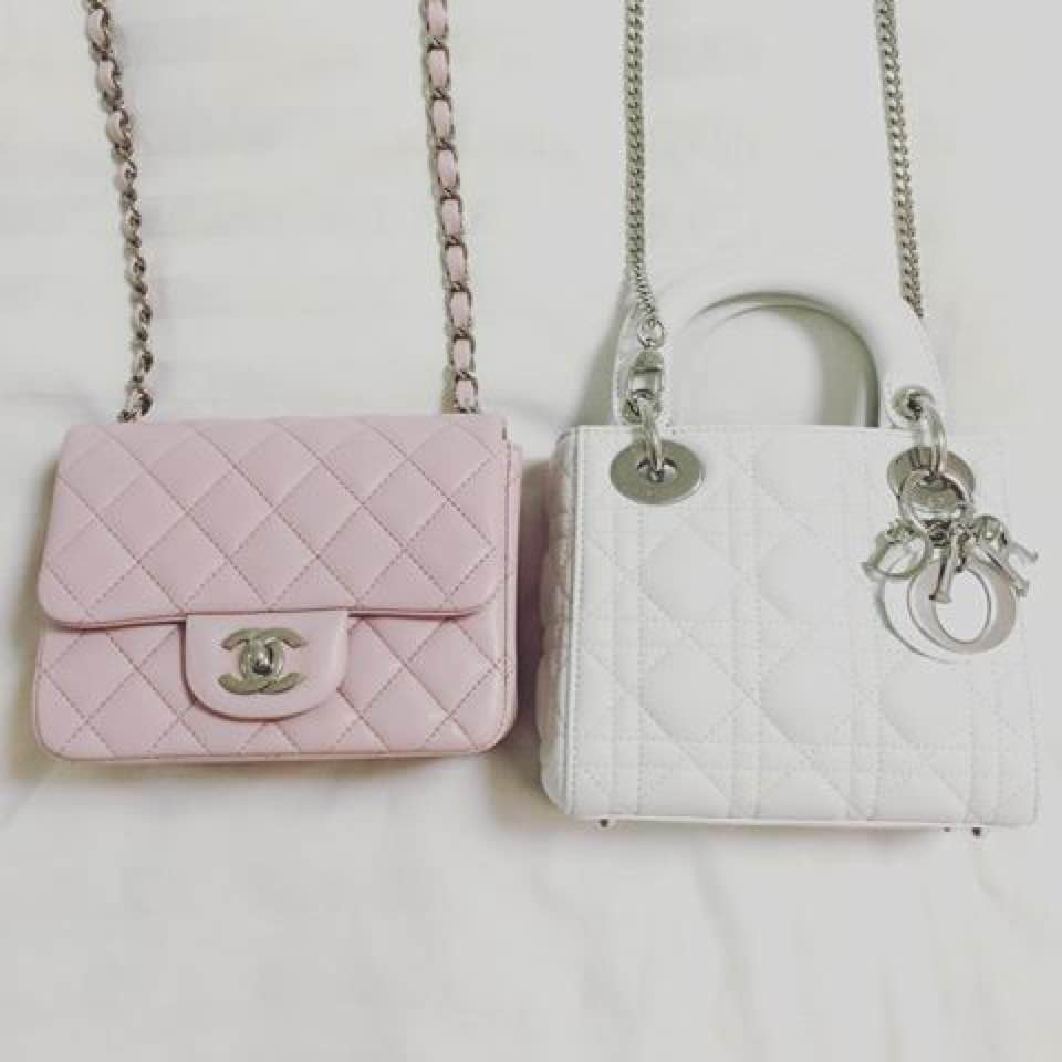 5a5cd2a2a90 Also saw these on Instagram where the lady compared her chanel square mini  with the lady dior mini. Very helpful because I really wanted to know too!!!