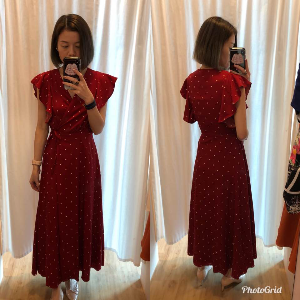 0cf0a800ec JUDITH WRAP FRONT MAXI DRESS. The last item I tried is this maxi in size S.  Size s fits me well at ptp and waist. This is literally a wrapped maxi.