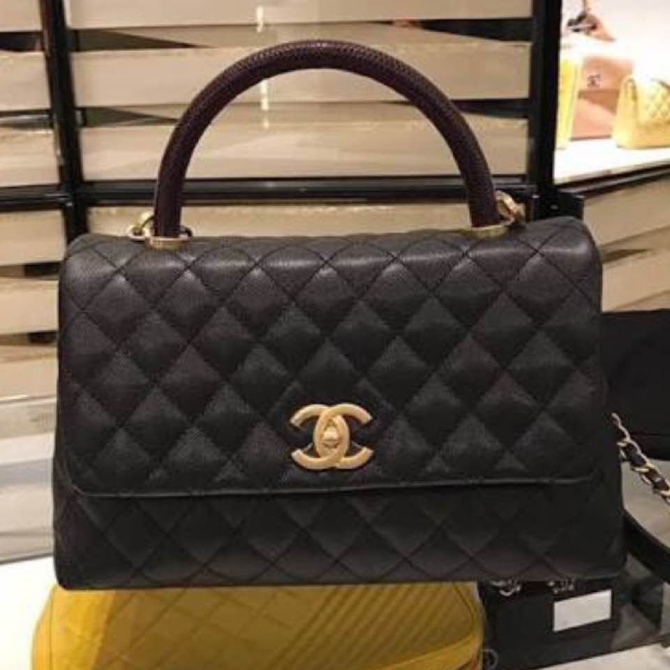 ec80c0cdd7e0 Also the Chanel Coco Handle in black with lizard skin handle! 😍