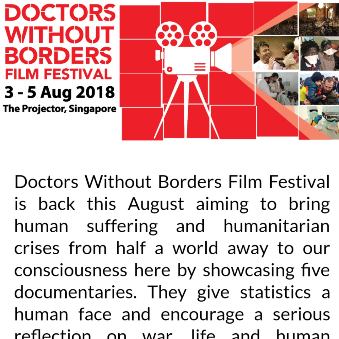 In Case Anyone Of You Are Interested Doctors Without Borders Film Festival Is Out