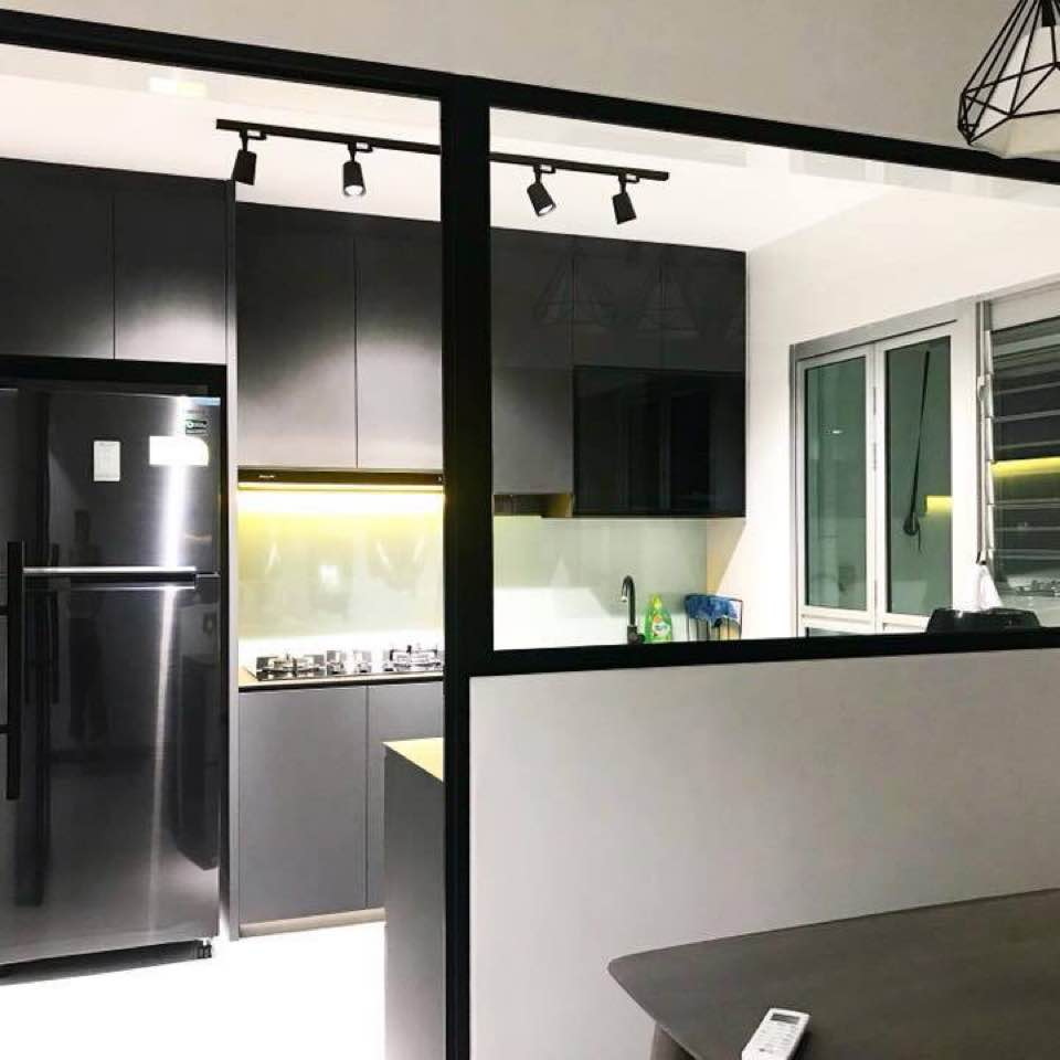 Industrial Kitchen Hdb: Renovation & Design: Contemporary & Industrial Design
