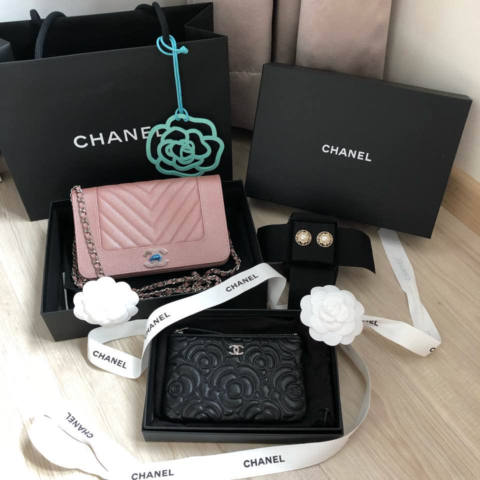 0861dbded2a6f2 Chanel unboxing completed! 3 items in a purchase 🙊 first time buying so  many at one. Unfortunately the other item I am eyeing still not in so must  wait ...