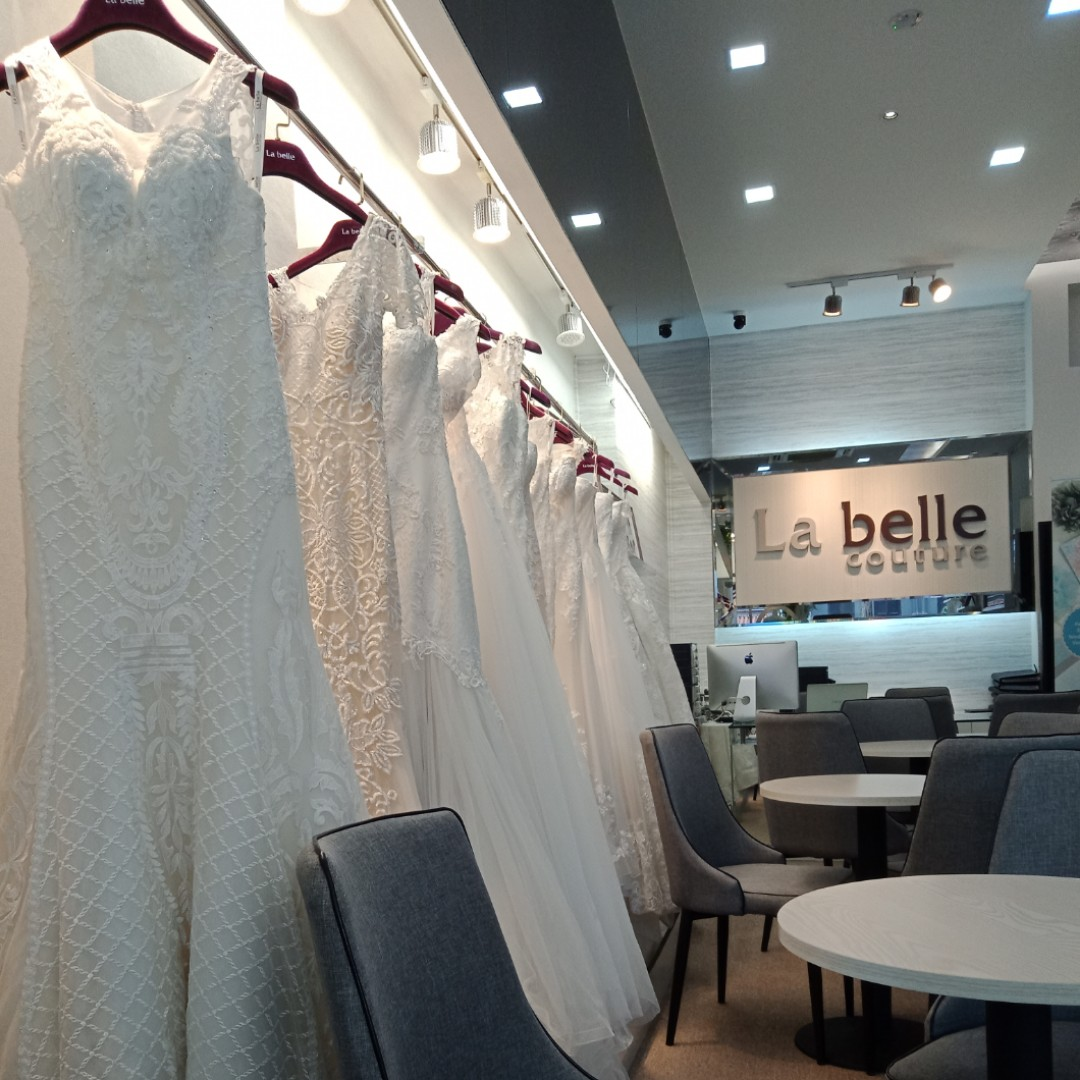 1c91b565b7e Our bridal studio search continues and yesterday had us heading down to  check out La Belle Couture's prices and services.