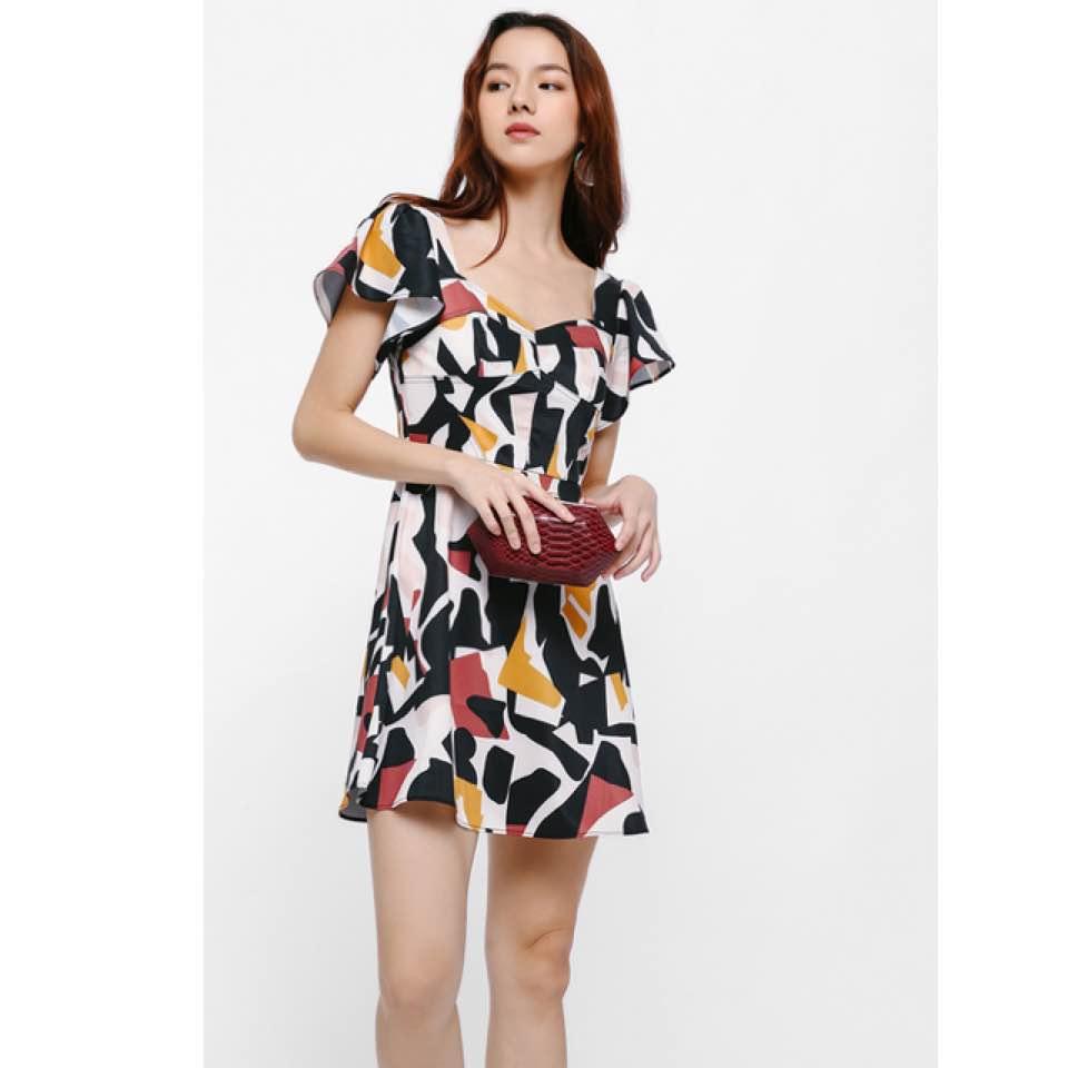 5c5c455a672e #lovebonito kreyen printed bustier dress - size S - bnwt