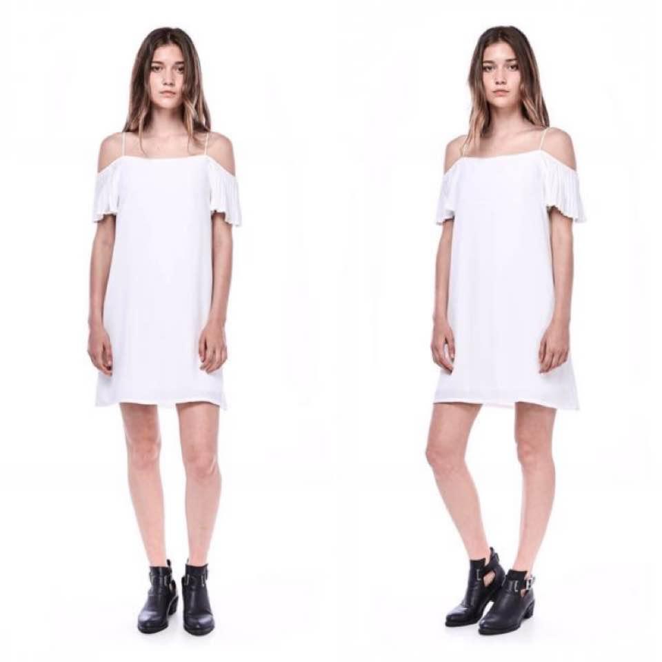 b18d2cbcaf  TheEditorsMarket Kelia Pleated Sleeve Dress