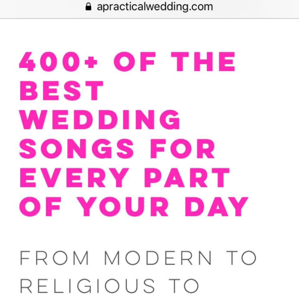 Your 10/10 Wedding Playlist Guide - liciasecret - Dayre