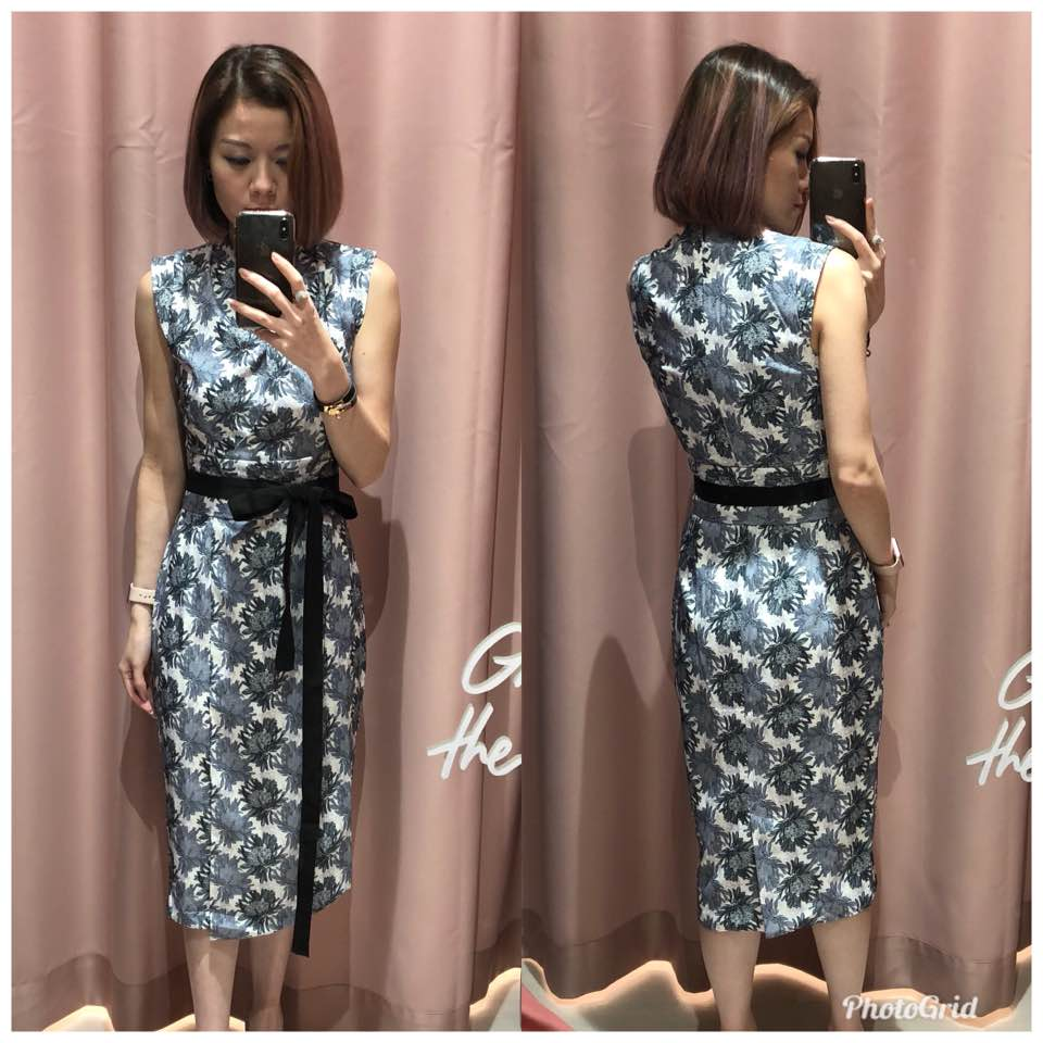 b6272834940 Wearing xs for the dress and it fits me snugly at ptp with slight allowance  at the waist. Hips has allowance. Dress is lined. Not stretchy. No pockets.